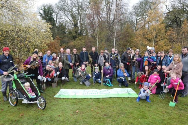 First trees of Colchester Woodland Project are planted
