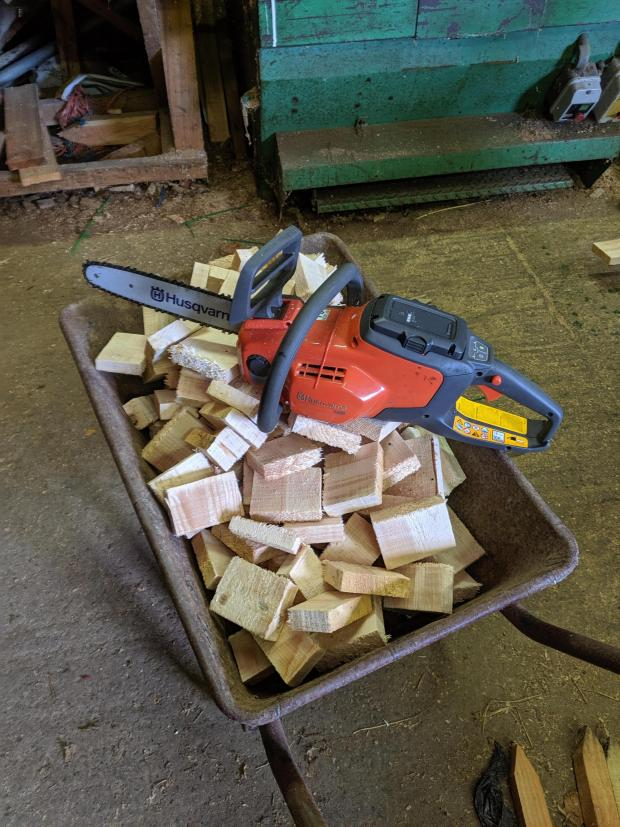 Forestry Journal: Handy for ending off a few fencing boards in the sawmill.