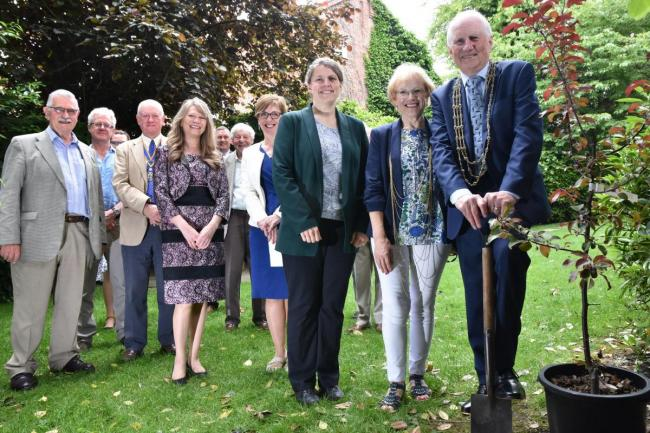 York Central MP, Rachael Maskell, with former Lady Mayoress, Judith Orrell and former Lord Mayor, Councillor Keith Orrell and others from the project partnership.