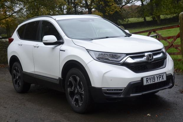 The self-contained e-CRV Hybrid from Honda. Spacious, efficient and well made but not overly inspiring.