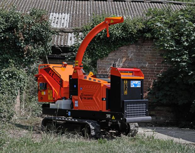 Forestry Journal: 230VTR petrol woodchipper.