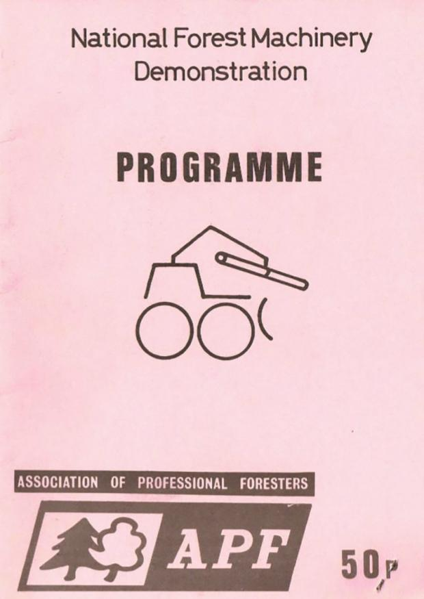 Forestry Journal: Programmes for the first event, in 1976, cost 50p, which covered the entrance fee and included a 50p voucher for reduced entry into the safari park and a price list for Longleat Fencing.